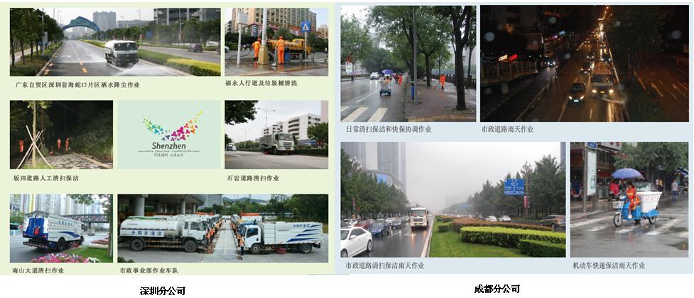 深圳升阳升清洁服务公司 环卫工人 市政道路清扫清洁 垃圾清理 园林绿化护理